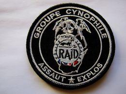 INSIGNE TISSUS PATCH POLICE NATIONALE LE RAID CYNOPHILE NEDEX EN BV NOIR ETAT EXCELLENT (SUR VELCROS) - Police