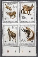 Albania 1990 - Faune-WWF, Gems, Mi-Nr. 2423/26, MNH** - Albanie