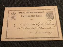 Luxembourg Carte Cachet Cap En Bleu - Stamped Stationery