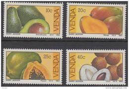 D90720 Venda South Africa 1983 FOOD FRUIT AVOCADO PEAR MANGO PAWPAW COCONUT MNH Set - Afrique Du Sud Afrika RSA - Venda