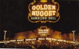Nevada Las Vegas Golden Nugget Gambling Hall At Night