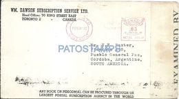 85592 CANADA TORONTO COVER YEAR 1942 CENSORED BUZON 1184 CIRCULATED TO ARGENTINA NO POSTAL POSTCARD - Canadá
