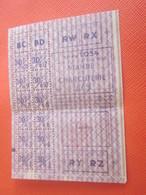 1943 WW2 GUERRE 39/45 Feuille Complète ALIMENTATION RATIONNEMENT RAVITAILLEMENT Bon Viande Charcuterie Réclame Pub Verso - Documents Historiques