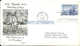 85594 CANADA OTTAWA COVER YEAR 1958 CIRCULATED TO ARGENTINA NO POSTAL POSTCARD - Canadá