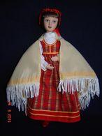 Porcelain Doll In Cloth Dress Of  Latvia Republic  - Russian Federation - Dolls