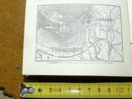 Cassino Montecassino Italy Italia Map Karte Mappa 1887 - Carte Geographique