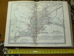 Napoli Italy Italia Map Karte Mappa 1887 - Carte Geographique