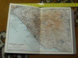 Contori Di Napoli Monte Vesuvio Anastasia Ottajano Barra Portici Boscoreak Italy Italia Map Karte Mappa 1887 - Carte Geographique