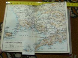 Contori Di Napoli Monte Vesuvio Acerra Cancello Castel Volturno Ischia Capri Pozzuoli  Italy Italia Map Karte Mappa 1887 - Carte Geographique