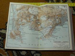 Contori Di Napoli Castello Di Baja Nisida Capo Di Posilipo Marano Chiajano Piscinola Italy Italia Map Karte Mappa 1887 - Carte Geographique