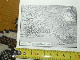 Pozzuoli Italy Italia Map Karte Mappa 1887 - Carte Geographique