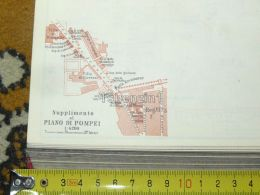 Piano Di Pompei Italy Italia Map Karte Mappa 1887 - Carte Geographique