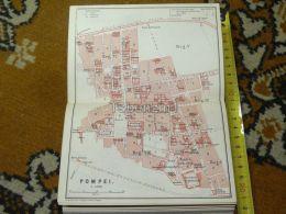 Pompei Italy Italia Map Karte Mappa 1887 - Carte Geographique