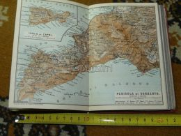 Sorrento Capri Anacapri Praiano Gragnano Positano Massahubrense Castellamare Italy Italia Map Karte Mappa 1887 - Carte Geographique