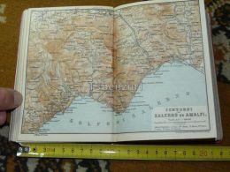 Salerno Amalfi Majori Vietri Pellezzano La Cava Pogerola Cerreto Pagani Angri Corbara Italy Italia Map Karte Mappa 1887 - Carte Geographique