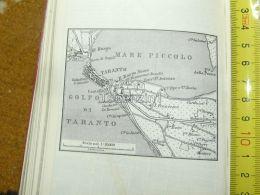 Taranto Mare PicoloIl Borgo Italy Italia Map Karte Mappa 1887 - Carte Geographique