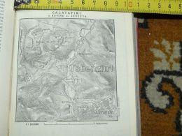 Calatafimi Castello Monte Barbaro Segesta Italy Italia Map Karte Mappa 1887 - Carte Geographique