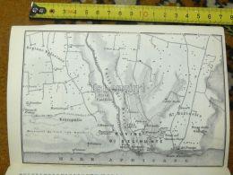 Rovine Di Selinunte Valle Del Marcio Regione Bresciana Italy Italia Map Karte Mappa 1887 - Carte Geographique