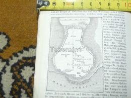 Selinunte Arena Teatro Italy Italia Map Karte Mappa 1887 - Carte Geographique
