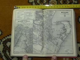 Messina  Italy Italia Map Karte Mappa 1887 - Carte Geographique