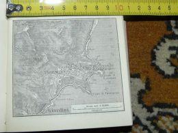Giardini Taormina Mola   Italy Italia Map Karte Mappa 1887 - Carte Geographique