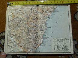 Catania Etna Randazzo Belpasso Paterno Borello Biancavilla Piedimonte Italy Italia Map Karte Mappa 1887 - Carte Geographique
