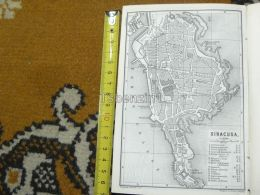 Siracusa Italy Italia Map Karte Mappa 1887 - Carte Geographique
