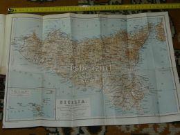 Sicilia Lipari Palermo Catania Siracusa Scilla Marsala Messina Milazzo Palmi Augusta Italy Italia Map Karte Mappa 1887 - Carte Geographique