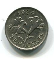1984 Bermuda 10 Cent Coin - Bermudes