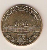 -médaille Touristique De La Monnaie De Paris - Château De Chambord ( 41 Loire Et Cher ) Année 2012 - Monnaie De Paris