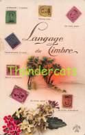 CPA LANGAGE DES TIMBRES  BELGES BELGIQUE BELGIE POSTZEGELTAAL ( PLI - CREASE - PLOOITJE ) - Timbres (représentations)