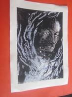 Repro Portrait De Charles Baudelaire D'après Une Oeuvre De Jacqueline Waetcher 1996 Technologie Mixte Sur Carton 24 X 32 - Other Collections