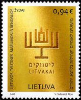 Lithuania - 2017 - Ethnic Minorities - Jews - Mint Stamp - Lituanie
