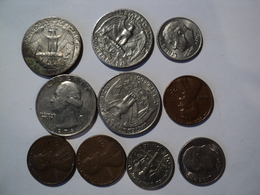 USA. LOT DE 10 PÏECES DIFFERENTES. 1965 / 2005 - Etats-Unis