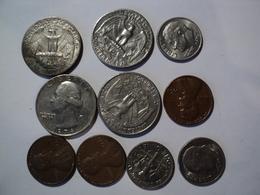 USA. LOT DE 10 PÏECES DIFFERENTES. 1965 / 2005 - United States