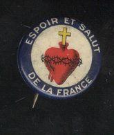"""Badge De Poilu Sacré Coeur """" Espoir Et Salut De La France """" - Army & War"""