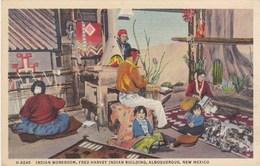 Indian Workroom, Fred Harvey Indian Building, Albuquerque, New Mexico (pk42323) - Albuquerque