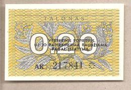 Lituania - Banconota Non Circolata FdS Da 0.20 Talonas P-30 - 1991 - Lituanie