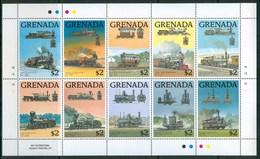 1989 Grenada Treni Trains Railways Locomotive Locomotives MNH** Ye64 - Grenada (1974-...)