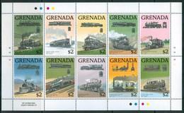 1989 Grenada Treni Trains Railways Locomotive Locomotives MNH** Ye65 - Grenada (1974-...)