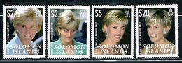 "Solomon Islands     ""Princess Diana""     Set     SC# 1096-99      MNH - Royalties, Royals"