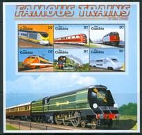 2001 Gambia Treni Trains Railways Locomotive Locomotives MNH** Ye66 - Gambia (1965-...)