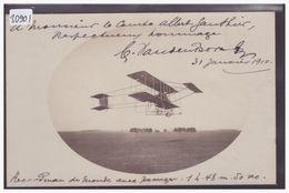 AVIATION - AVION - SIGNATURE AUTOGRAPHE DU PILOTE VAN DEN BORN - MEETING DE NICE EN 1910 - TB - Meetings