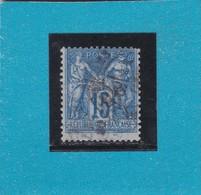 SAGE N° 90 A Bleu Sur Bleu  TYPE II C     Oblitérés + CAD  - REF 9717 - 1876-1898 Sage (Type II)