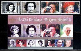 "Solomon Islands     ""Queen Elizabeth II""      Set & Souvenir Sheet     SC# 1039-43    MNH    SCV$ 19.50 - Solomon Islands (1978-...)"
