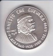 MONEDA DE PLATA DE CUBA DE 10 PESOS AÑO 1987 DE ERNESTO CHE GUEVARA - Cuba