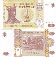 Moldova - 1 Lei 2013 UNC Lemberg-Zp - Moldavie
