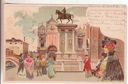 189-tematica Illustratori:Firmata Tafuri-Donnine-Religione-S.S.Giovanni E Paolo-Monumento Colleoni-Venezia-1901xPalermo - Illustrateurs & Photographes