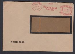 DR Brief Absenderfreistempel Bankbrief Reichsbank Chemnitz K1198 - Deutschland