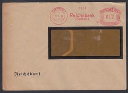 DR Brief Absenderfreistempel Bankbrief Reichsbank Chemnitz K1199 - Deutschland